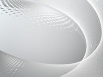 Abstract gray wave Stock Image