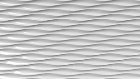 Grey plastic wavy lines. 3D rendering. Abstract gray waves, 3D rendering background Stock Illustration