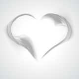 Abstract gray wavy background-heart from smoke. Royalty Free Stock Images