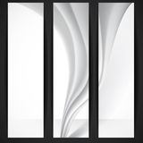Abstract Gray Wavy Background Stock Image