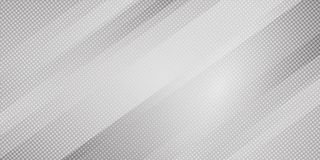 Abstract gray and white gradient color oblique lines stripes background and dots texture halftone style. Geometric minimal pattern. Modern sleek texture. Vector royalty free illustration
