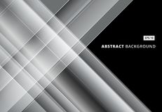 Abstract gray and white image that depicts technology. With overlapping diagonal lines. Vector illustration Stock Photos