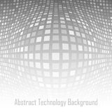 Abstract Gray - White Technology Background. Vector illustration Royalty Free Stock Image
