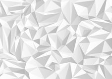 Abstract gray and white triangle shapes on background. Vector illustration Stock Photo