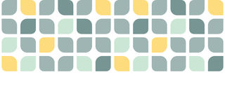 Abstract gray yellow rounded squares horizontal Stock Photos