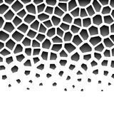 Abstract grayscale geometrisch patroon Royalty-vrije Stock Foto