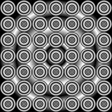 Abstract grayscale seamless pattern. Abstract concentric grayscale seamless pattern Royalty Free Stock Images