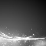Abstract grayscale soft swoosh line layout Stock Photo