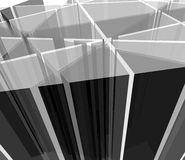 Abstract grayscale transparent shapes Stock Photos