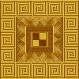 Abstract greek ornament, tile, pattern in a square. Geometric texture stock illustration