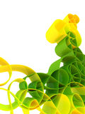 Abstract green 3d background Stock Image