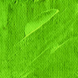 Abstract green acrylic hand paint background. Part of oil painting with brush strokes. Background of detail of green acrylic painting Royalty Free Stock Photos