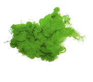Abstract of green acrylic paint in water. Royalty Free Stock Images