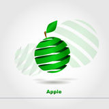 Abstract green apple. Web design vector illustration
