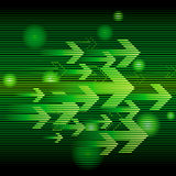 Abstract green arrow. Abstract colorful business background with arrow Stock Photography