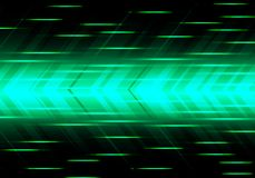 Abstract green arrow speed power technology futuristic modern background vector stock illustration