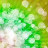 Abstract of Green Aura White bokeh Stock Photography