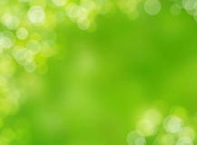 Abstract green autumn nature blur light bokeh background Royalty Free Stock Photography