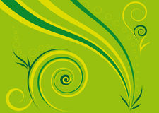 Abstract green background. Of stripes and spirals Stock Photography