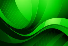 Abstract green background. Illustration of abstract green background with different shaded curves Royalty Free Stock Photos