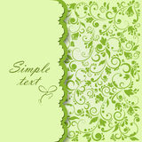 Abstract green background. Background pistachio-colored floral pattern Royalty Free Stock Photos