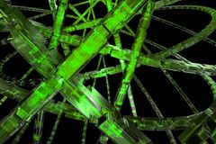 Abstract green background. Abstract 3D cog wheel available for background Stock Photo