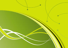 Abstract green background. A illustrated background of green colors and abstract designs Royalty Free Stock Images