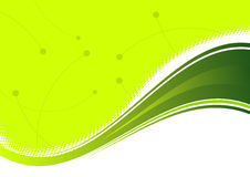 Abstract Green Background. An illustrated background with an abstract wavy design in green color Stock Photography