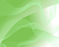 Abstract green background. Vector illustration of abstract green shapes and lines Royalty Free Stock Images