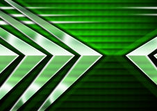 Abstract Green Background with Arrows Royalty Free Stock Images