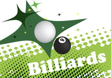 Abstract green background for billiard banner vector illustration
