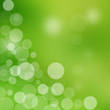 Abstract green background with bright circles Royalty Free Stock Photography