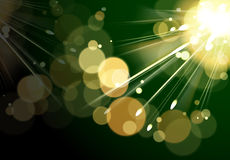 Abstract green background with circle and rays Royalty Free Stock Images