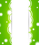 Abstract green background with circles Royalty Free Stock Photography