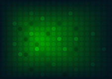 Abstract green background with circles and wide blurry light spot Royalty Free Stock Images