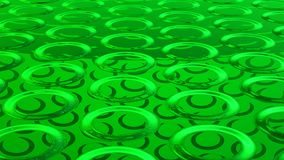 Abstract green background 3D rendering. Abstract green highlights, 3D computer rendering a brilliant generation of glass surface vector illustration