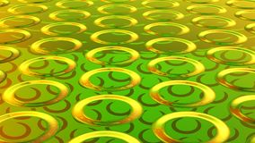 Abstract green background 3D rendering. Abstract green highlights, 3D computer rendering a brilliant generation of glass surface stock illustration