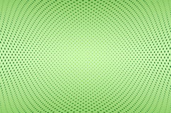 Abstract green background. With dots array in a concave shape Royalty Free Stock Images