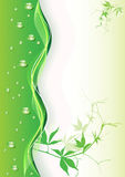 Abstract green background with drops. Vector illustration Royalty Free Stock Images