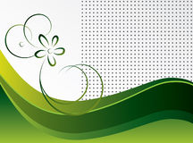 Abstract green background with a flower. Vector illustration royalty free illustration