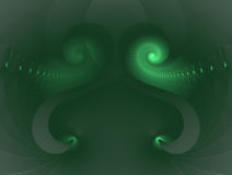 Abstract green background. Fractal. Stock Photos