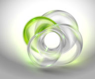 Abstract green background with glass round shape Royalty Free Stock Photography