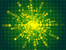 Abstract green background. Gold particle form Stock Images