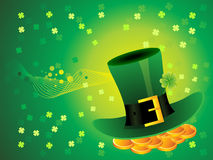 Abstract green background with hat Stock Photo