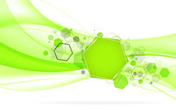 Abstract green background with hexagon. Vector Illustration Royalty Free Stock Photography