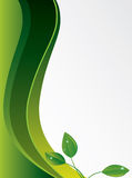 Abstract green background with leaves Stock Image