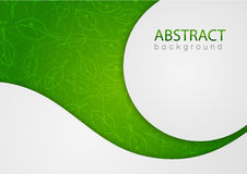 Abstract green background with leaves Stock Photography