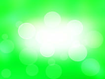 Abstract green  background ,light bokeh effect. holiday card. Royalty Free Stock Images