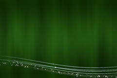 Abstract green background with the light lines at the bottom Royalty Free Stock Photos