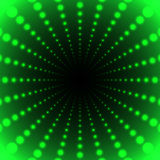 Abstract green background of luminous dots arranged in space and Stock Photos